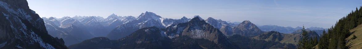 панорама немца alps Стоковое Фото