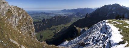 панорама немца alps Стоковые Изображения