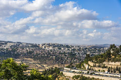 Панорама нового жилого района Иерусалима новая Стоковые Изображения RF