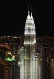Панорама ночи Куалаа-Лумпур Стоковая Фотография RF