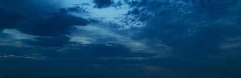 Панорама ночного неба Стоковые Фотографии RF