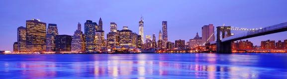 Панорама Нью-Йорка Стоковые Изображения RF