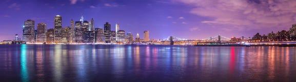 Панорама Нью-Йорка стоковое фото rf