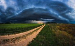 Панорама облаков шторма Стоковая Фотография RF