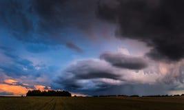 Панорама облаков шторма Стоковые Фото