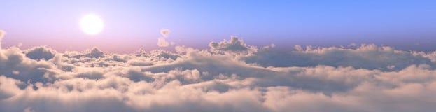 Панорама облаков стоковая фотография