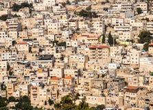 Панорама обозревая город части старый Иерусалима, Израиля как b Стоковое Изображение