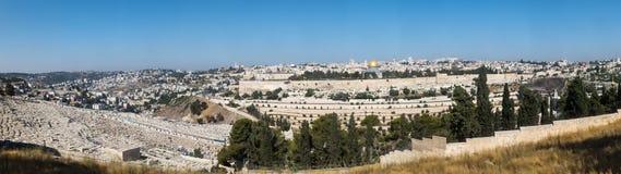 Панорама обозревая старый город Иерусалима, Израиля, includin Стоковое фото RF