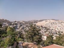 Панорама обозревая старый город Иерусалима, Израиля, includin Стоковые Фотографии RF