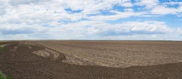 Панорама обрабатываемой земли Стоковые Фото