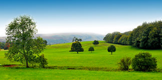 панорама озера заречья стоковое фото rf