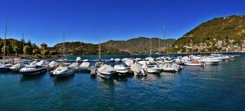 Панорама озера Como Стоковое Изображение