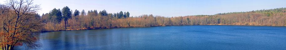 панорама озера осени Стоковое Изображение