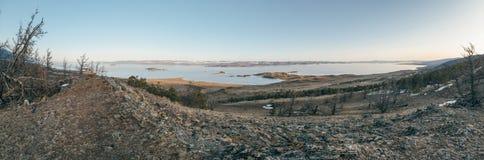 панорама озера свободного полета baikal утесистая Стоковые Фотографии RF