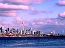 Панорама 2017 озера Торонто красивая Стоковое фото RF