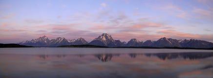 панорама озера jackson Стоковые Изображения RF