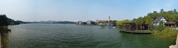 Панорама озера Tianmu Стоковое Изображение RF