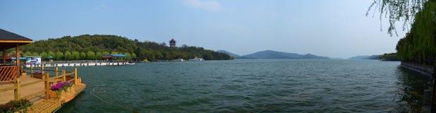 Панорама озера Tianmu Стоковая Фотография RF