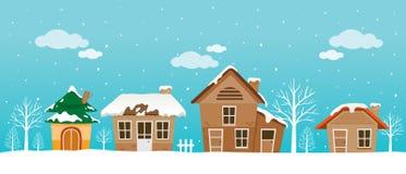 Панорама домов Стоковые Фотографии RF