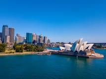 Панорама оперного театра Сиднея Стоковое Фото