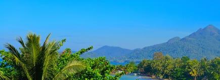 Панорама острова рая Стоковое Изображение
