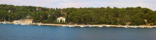 Панорама острова Losinj Стоковые Изображения