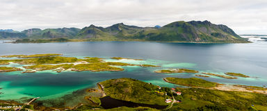 Панорама островов Lofoten Стоковые Изображения