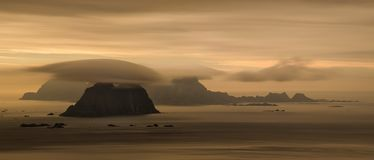 Панорама островов Vaeroy стоковые фото