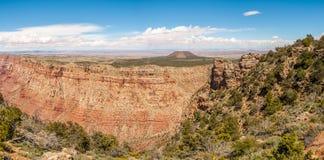 Панорама от взгляда пустыни - гранд-каньона Стоковые Изображения RF