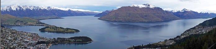 Панорама от горизонта, Новая Зеландия Queenstown стоковые фотографии rf