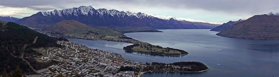 Панорама от горизонта, Новая Зеландия Queenstown Remakable стоковое фото
