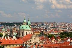 Панорама от замка Прага взгляд городка республики cesky чехословакского krumlov средневековый старый Стоковые Фото