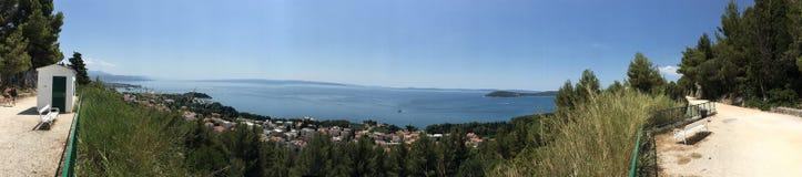 Панорама от холма Marjan Стоковая Фотография RF