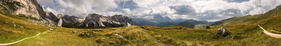 Панорама доломитов Стоковые Изображения RF