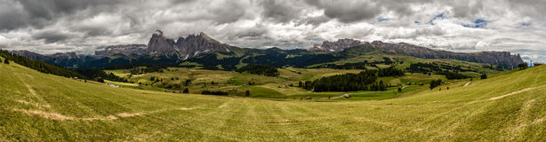 Панорама доломитов Стоковое Изображение