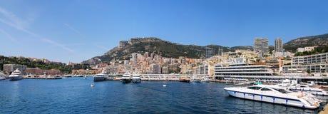 Панорама палаты Condamine Ла и порта Геркулеса в Монако Стоковые Фото