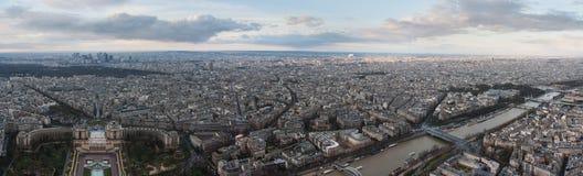 Панорама Парижа от Эйфелева башни Стоковые Фото