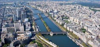 Панорама Парижа от Эйфелева башни Стоковое Фото