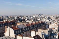 Панорама Парижа с базиликой священного сердца Стоковая Фотография RF