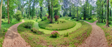 Панорама парка 180 Стоковая Фотография
