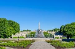 Панорама парка Vigeland Стоковое Фото