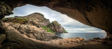 Панорама пещеры Bunes стоковое фото rf
