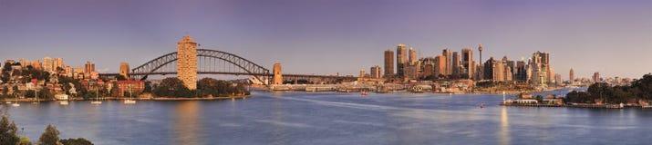 Панорама пинка Сиднея Waverton Стоковые Фотографии RF
