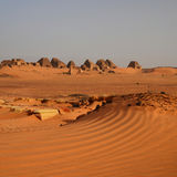 Панорама пирамид Nubian в Судане стоковое фото rf