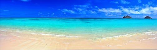панорама пляжа мечт Стоковая Фотография
