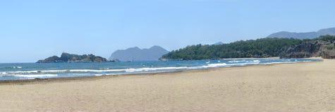 панорама пляжа одичалая Стоковые Фото