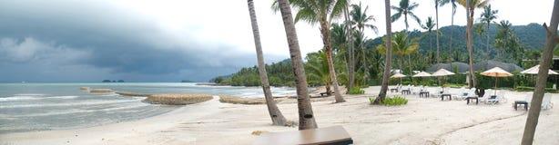 панорама пляжа тайская Стоковые Фотографии RF