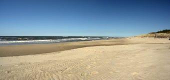 панорама пляжа широкая Стоковая Фотография