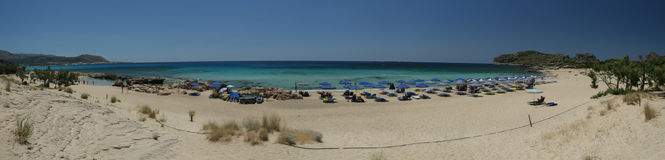 панорама пляжа экзотическая Стоковые Фото