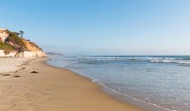 Панорама пляжа Solana, Калифорнии Стоковая Фотография RF